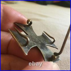 Croix de fer 1870 avec deux crochets supplémentaires au dos. Eisernes kreuz