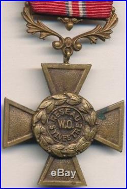 Croix du réseau SYLVESTRE, W. O, en bronze