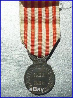 D' Rare médaille commémorative de la guerre 14 18 Charles french medal