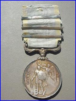 D1 Ancienne médaille guerre de CRIMEE 1854 SECOND EMPIRE french medal
