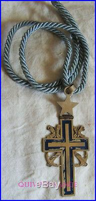 DEC5190 CROIX D'AUMONIER DE LA MARINE IIIe REPUBLIQUE