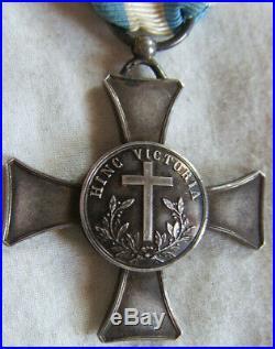 DEC5559 CROIX DE MENTANA 1867 Modèle de luxe dit pour officier