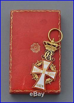 Danemark Ordre du Dannebrog, chevalier de 1° classe en or