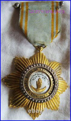 Dec5020 Chevalier Ordre Royal De L'etoile D'anjouan Comores