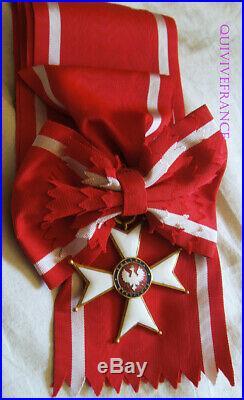 Dec5708 Echarpe & Bijou De Grand Croix De L'ordre De La Pologne Restituee 1921