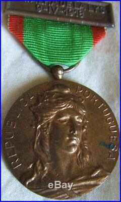 Dec6237 Medaille Des Campagnes De L'armee 1916 Portugal France La Lys Ww1