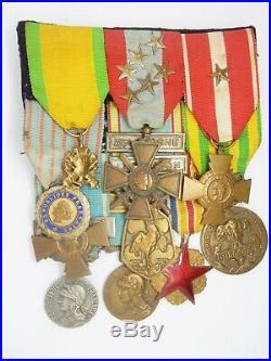 Decom 000 Medaille Lot D'un Sous Officier 1945 Indochine Algerie