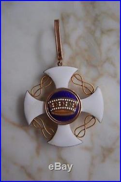 Décoration Médaille Ordre De La Couronne D'italie En Or