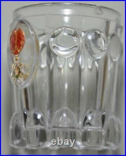 Décoration Ordre de Saint Louis gobelet cristal inclusion Cristallo-cérame