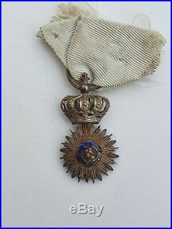 Décoration du Lys, modèle des Gardes du Corps du Roi, argent et vermeil