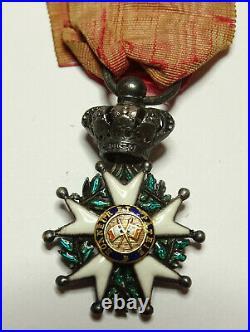 Demi-taille de LEGION d'HONNEUR, chevalier, 26 mm, argent, monarchie /0006