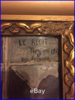Département Oise Peinture Militaire D'un Croquis De Guerre de François Flameng