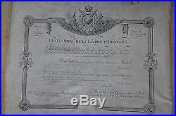 Diplôme Chevalier Legion D'honneur Epoque Monarchie 1828-juge D'instruction