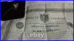 Diplome Et Medaille D Honneur Palais Imperial Fontainebleau