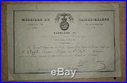 Diplome medaille militaire de sainte-helene dragon Rabastens- Napoleon medal