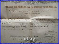 Diplômes Chevalier Et Officier De La Légion D'honneur Second Empire Napoléon III