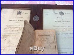 Diplômes Napoléon médaille/ Tambour 99 Ri Infanterie + Livret. Mexique, Italie