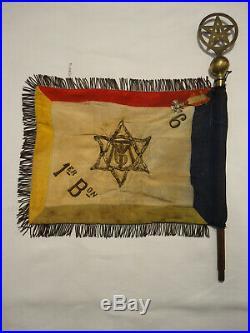 Drapeau Ancien 6ème Régiment Tirailleurs Marocains Spahis Goumiers Armée Afrique