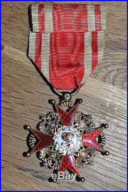E4 Rare médaille russe de saint Stanislas russian MEDAL Russie tsar Nicolas II
