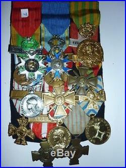 EXT  GRAND PLACARD DE MEDAILLES MILITAIRES Medal FRANCE n°2