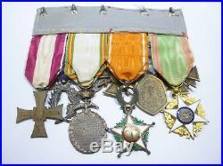 EXT Superbe placard de médailles militaires françaises french medal