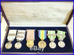 EXTA Beau coffret de médailles militaires dont coloniales french medal