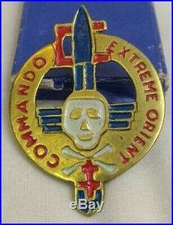 EXTREME ORIENT Medaille INSIGNE Beret COMMANDO Militaire Francais MILITARIA Z3