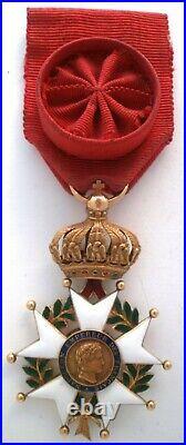 En OR GOLD Second empire Ordre de la Légion d'honneur Napoléon Officier médaille