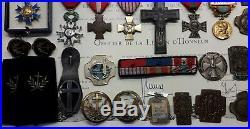 Ensemble D'attributs, Ordres Et Décorations D'un Aumônier Militaire Catholique