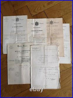 Ensemble De 63 Documents Et Lettres Sous-officier Voirol Mexique Crimée Algérie
