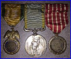 Ensemble De Medailles Du Second Empire Médaille Militaire, Crimée, Italie