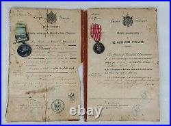 Ensemble Médailles Campagne Crimée Italie 19 Bataillon Chasseur Pied 2nd Empire
