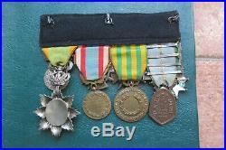 Ensemble de 8 médailles guerre 39-45 Indochine Légion honneur Dragon ANNAM