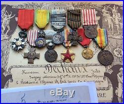 Ensemble, lot officier coloniale, chasseurs, guerre 14-18, légion d'honneur