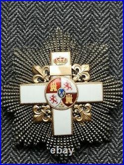 Espagne Ordre Du Mérite Militaire Plaque De Grand-croix Maison Jose Fernz Mayor