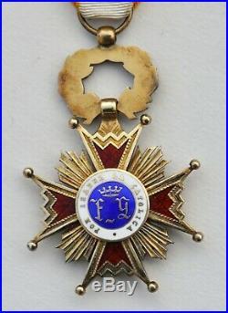 Espagne Ordre d'Isabelle la Catholique, chevalier en vermeil, époque franquiste