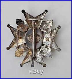 Espagne, Ordre de Charles III, plaque de Grand Officier, signée Halley