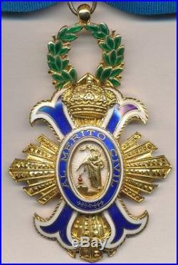 Espagne Ordre du mérite civil, bijou de commandeur