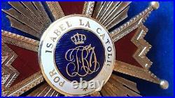 Espagne Spain Ordre Isabelle La Catholique Croix De Comendateur 1910