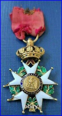 Etoile d'officier de la Légion d'Honneur 2nd Empire Napoleon OR French medal