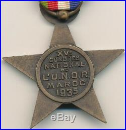 Etoile de Lyautey- XV° congrès national de lU. N. O. R. Maroc 1935