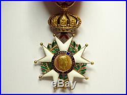 Etoile de la LEGION d'HONNEUR, officier, 41 mm, en or, 2e empire, magnifique