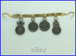 FRANCE CHAÎNETTE EN OR réductions Médaille Militaire, Mexique, Chine, Crimée