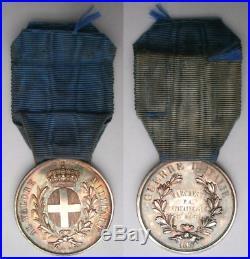 FRANCE ITALIE CNE MARCHESNE Médaille valeur militaire sarde Sardaigne Medal 1859