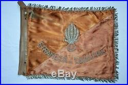 Fanion 1° Regiment Etranger Cavalerie-groupement Amphibie-legion Etrangere