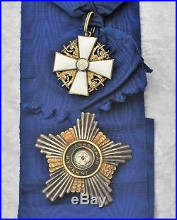 Finlande Ordre de la Rose Blanche, ensemble de grand croix