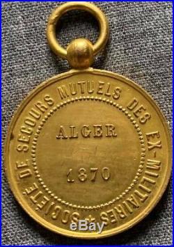 France 1870, Medailles des secours mutuels des anciens militaires d'Alger