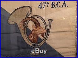 France 1940 Rare Fanion 2 Compagnie 47 eme BCA Retrouve En Allemagne Chasseurs