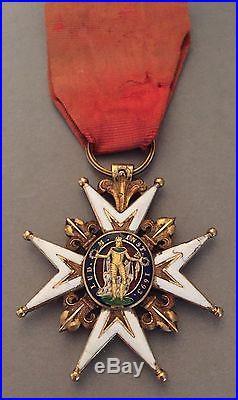 France Croix Ordre de Saint Louis en or