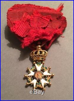 France Légion dhonneur 1er Empire 4ième type modifiée Restauration En or